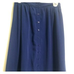Cobalt midi skirt